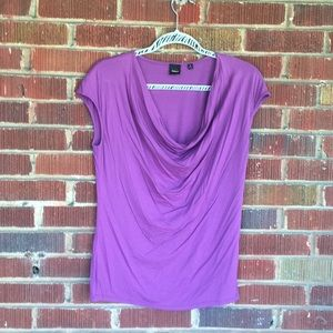 Purple scoop neck work top